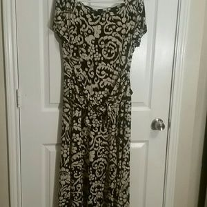 PERCEPTIONS NEW YORK beige and black dress